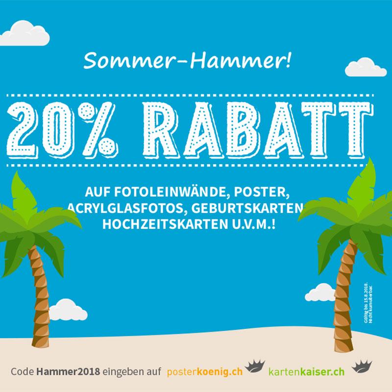 Sommer Hammer Werbekampagne