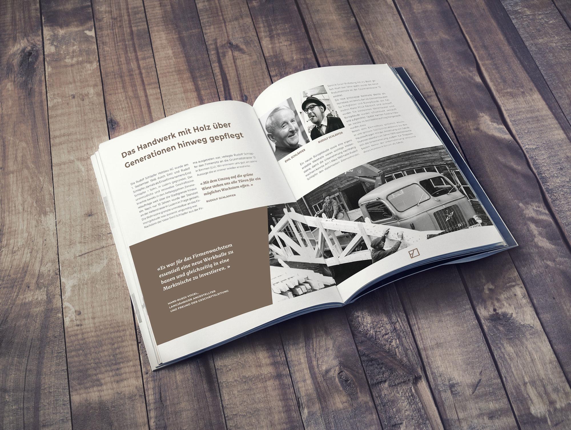 Portfolio | Broschüre Schläpfer Holzbau