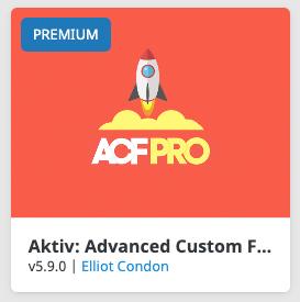 Advanced Custom Fields Pro Plugin in Avada