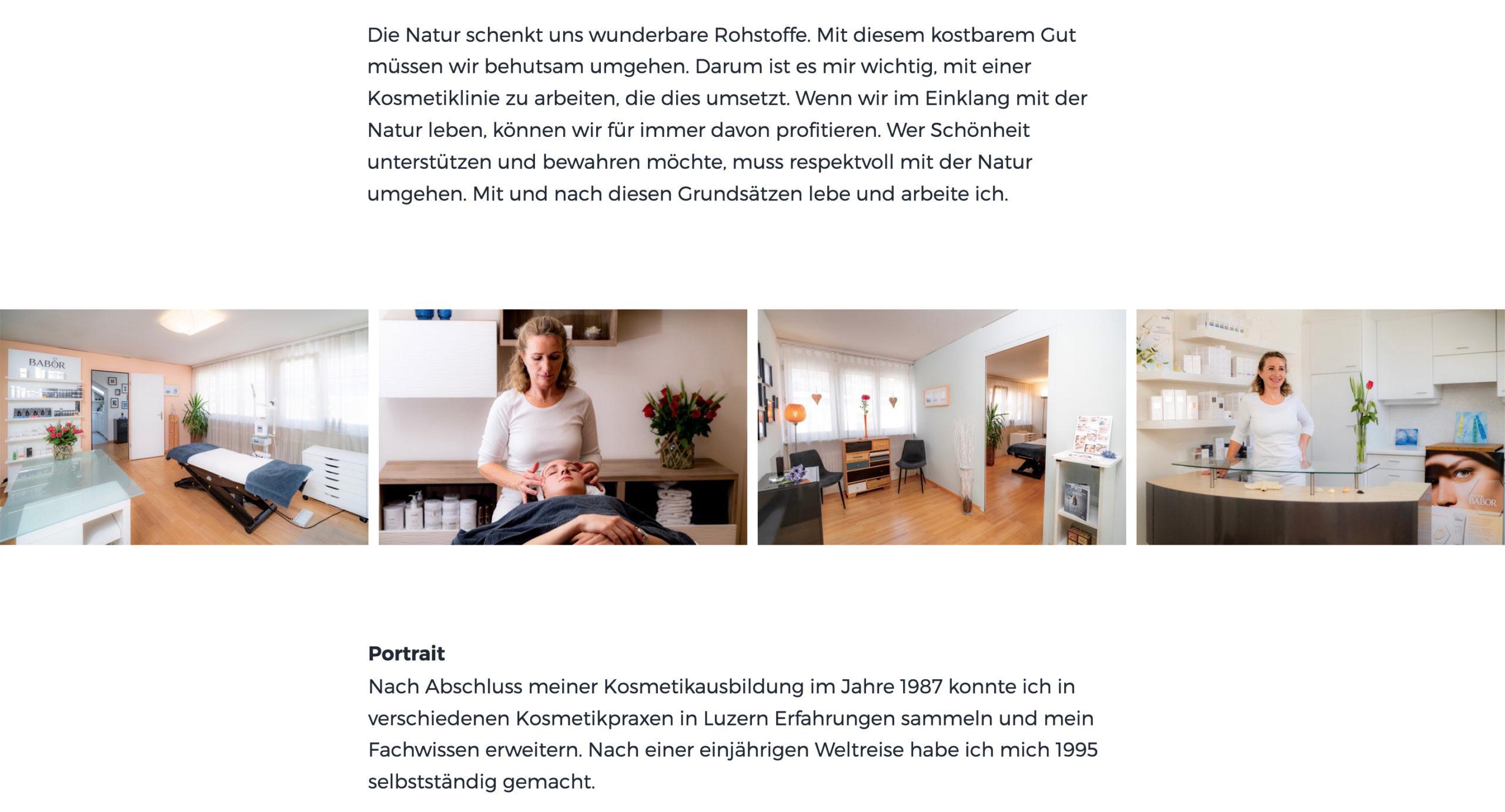 Webdesign | Portfolio | Altstadt Kosmetik Luzern