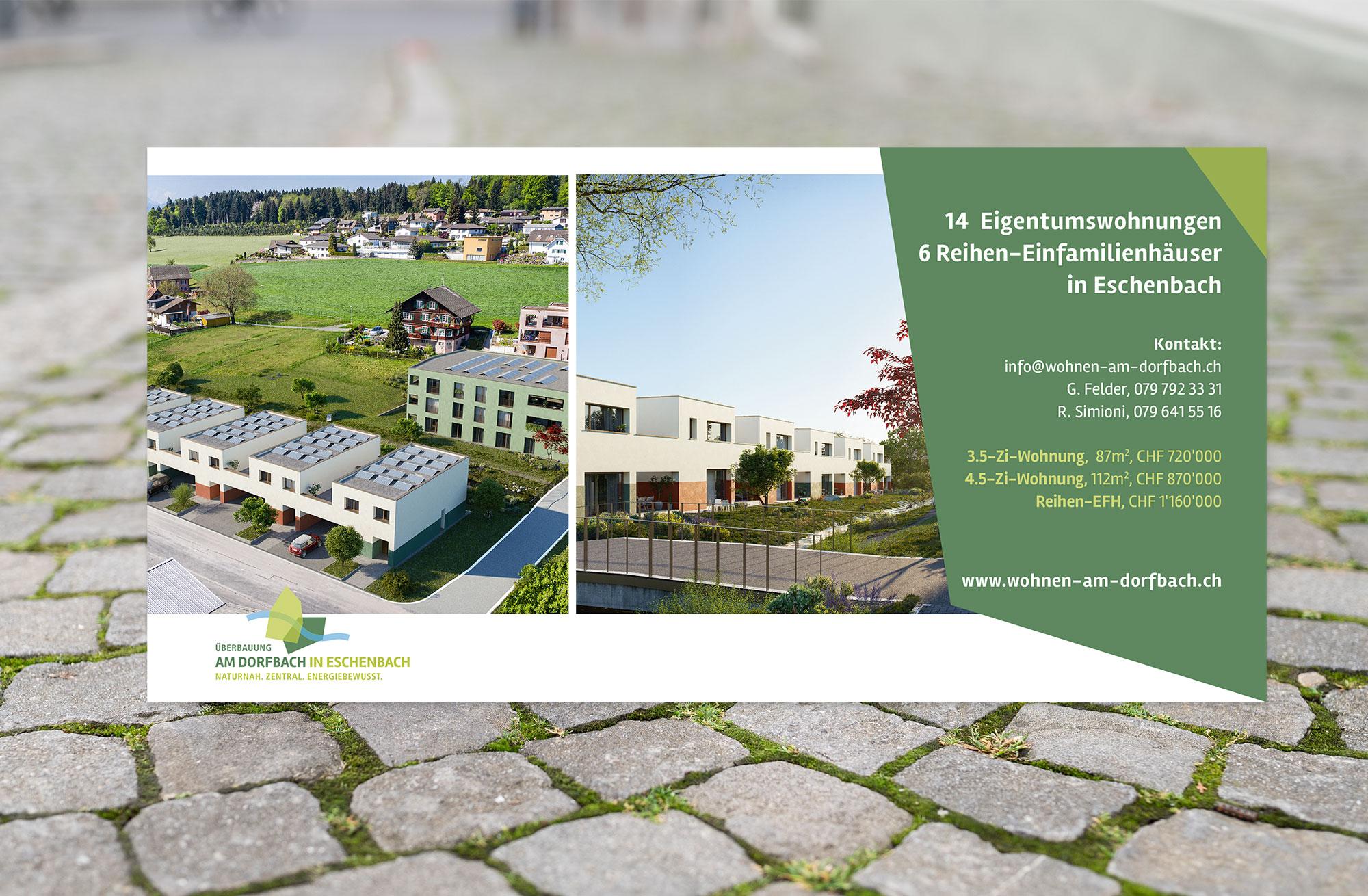 Portfolio   Flyer Wohnen am Dorfbach