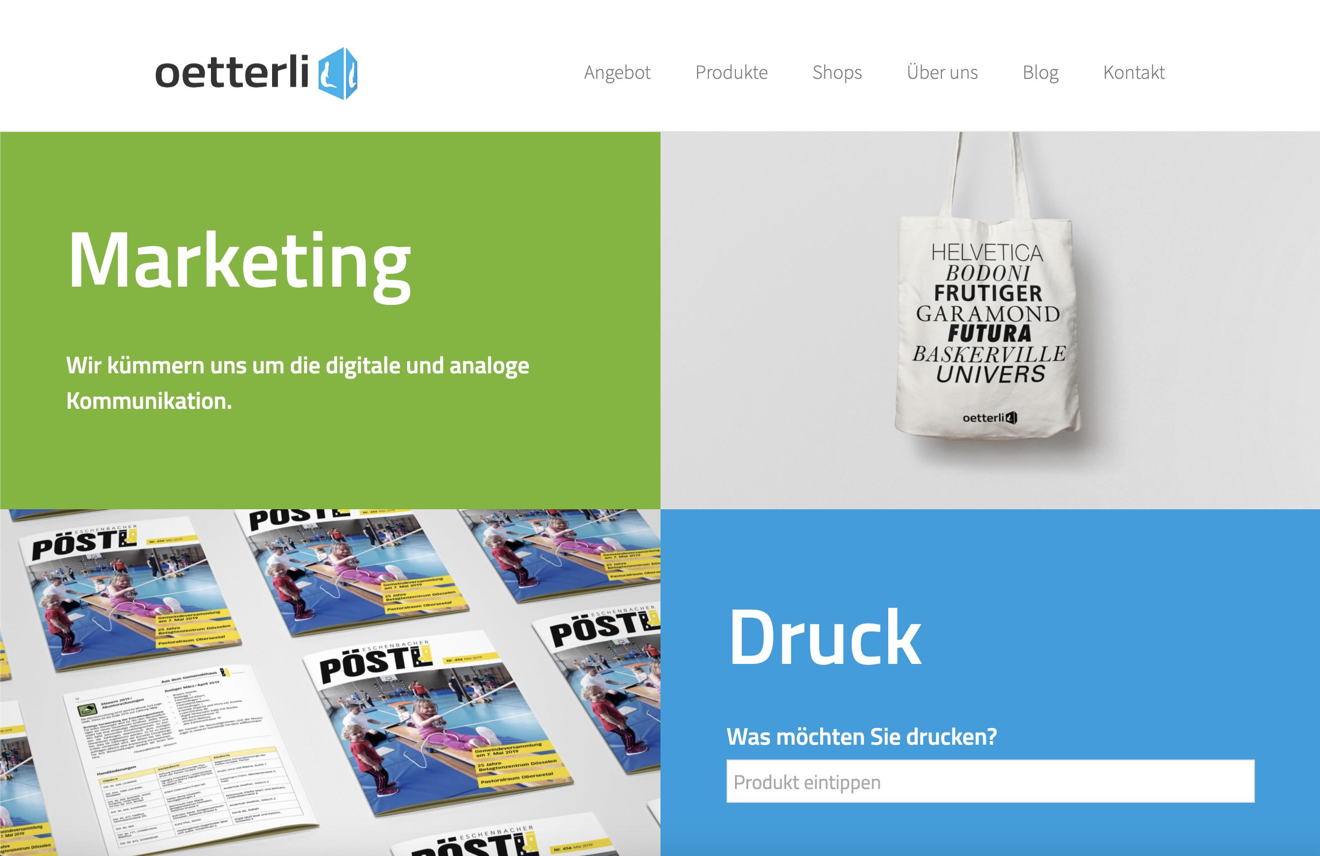 Conseo Portfolio | Oetterli AG, Eschenbach