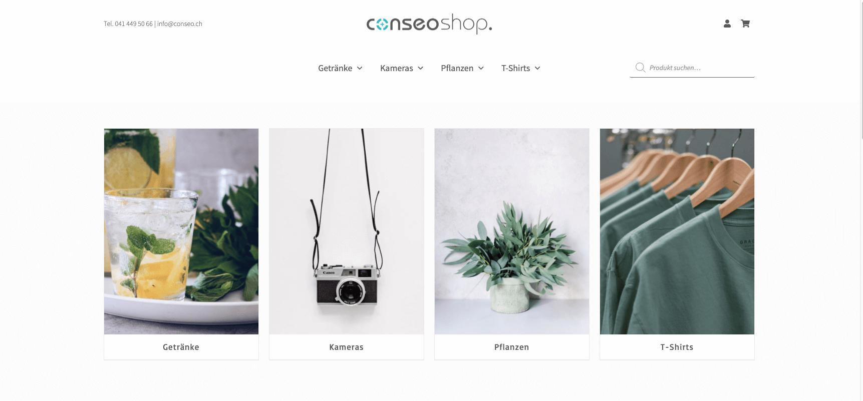 Conseo Shop | profssioneller Onlineshop | Design & Benutzerführung