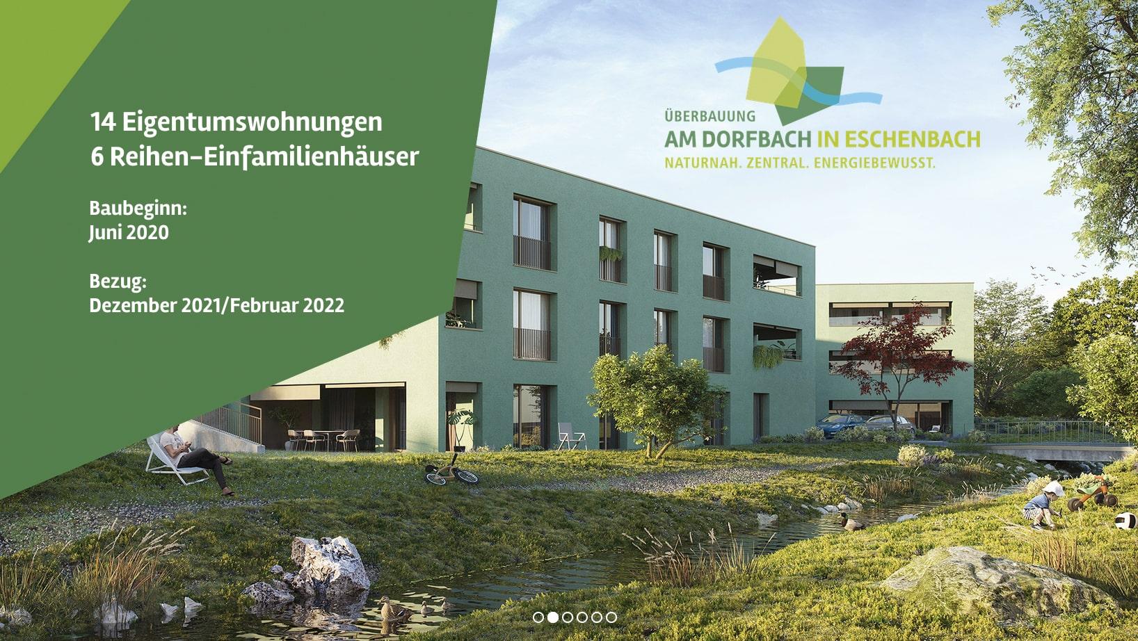 Conseo Portfolio | Wohnen am Dorfbach, Überbauung Eschenbach